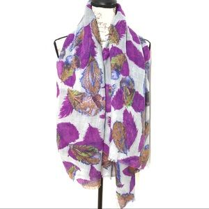 3 for $25 Peacock Feathers Shawl Floral Wrap Scarf